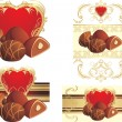 Royalty-Free Stock Vector Image: Chocolate candies with nuts to the Valentines day