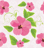 Decorative background with pink flowers — Stock Vector