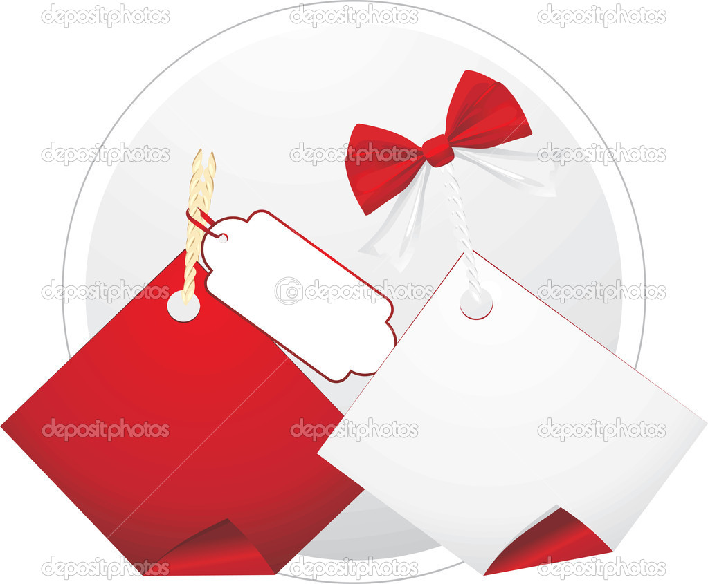 Two sales tags. Vector illustration  Imagen vectorial #7380196