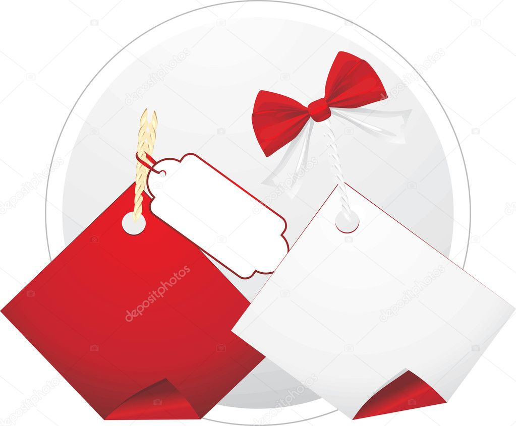 Two sales tags. Vector illustration — Stok Vektör #7380196