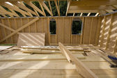 Wood house construction — Stock Photo