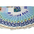 The euro money pattern — Stock Photo