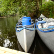 Swedish canoe equipment - Stock Photo
