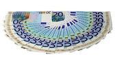 ユーロのお金のパターン — ストック写真