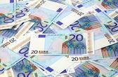 20 euro arka plan — Stok fotoğraf