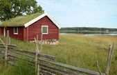 The Swedish cottage — Stock Photo