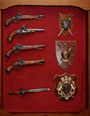 Old weapon cabinet — Stock Photo