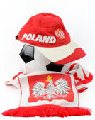 Polish football emblems — Stock Photo