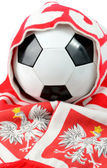 Polish football composition — Stock Photo