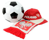 Football Polish symbols — Stock Photo