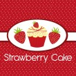 Strawberry cake — Stock Vector #7094748