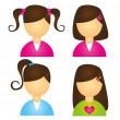 Royalty-Free Stock Vector Image: Girls icons