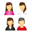 Royalty-Free Stock Vector Image: Women icons
