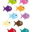 Fish cartoon — Stock Vector