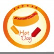 Hot dog sign - Stock Vector