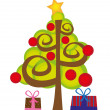 Christmas tree — Vector de stock #7095247