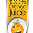 Orange juice — Stock Vector