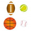 Royalty-Free Stock Vector Image: Sports balls, vector