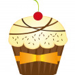 Cup cakes — Stock Vector #7095372