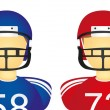 Football american icons — Stock Vector