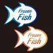 Royalty-Free Stock Vector Image: Frozen fish tags