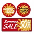Summer sale tags - Stock Vector