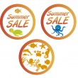 Summer sale tags — Vector de stock