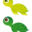 Stock Vector: Green turtle