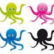 Octopus cartoon — Stock Vector