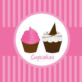 Cup cakes — Stock Vector