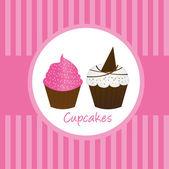 カップ ケーキ — ストックベクタ