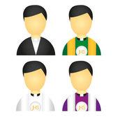 Priest icons — Stock Vector