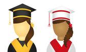 Graduate icons — Stock Vector