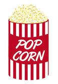 Pop corn cartoon — Stock Vector