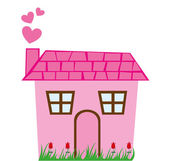 Cute house — Stock Vector
