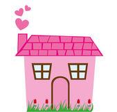 Cute house — Stock Vector
