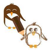 企鹅绘图 — 图库矢量图片