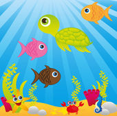 Sea cartoon — Vector de stock