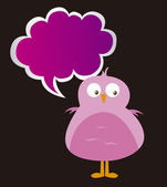 Bird and thought bubble — Stock Vector