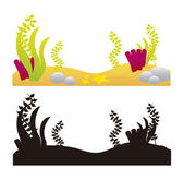 Aquarium elements — Stock Vector