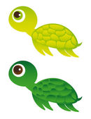 Green turtle — Stock Vector
