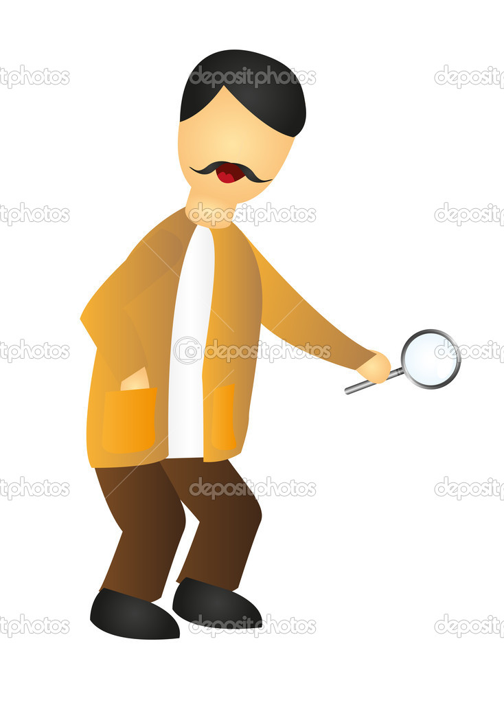 Inspector cartoon isolated over white background. vector  Stock Vector #7095192