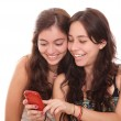 Stock Photo: Girls smiling
