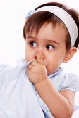 Baby saying silence — Stock Photo