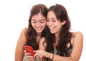 Girls smiling — Stock Photo