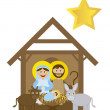 Christmas nativity — Stock Vector