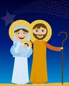 Jesus mary and joseph — Stock Vector
