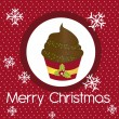 Cup cake christmas - Imagen vectorial