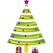 Stock Vector: Tree christmas