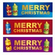 Stock Vector: Merry christmas labels